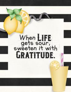 Sweeten with Gratitude