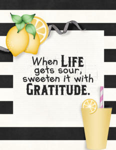 Sweeten with Gratitude